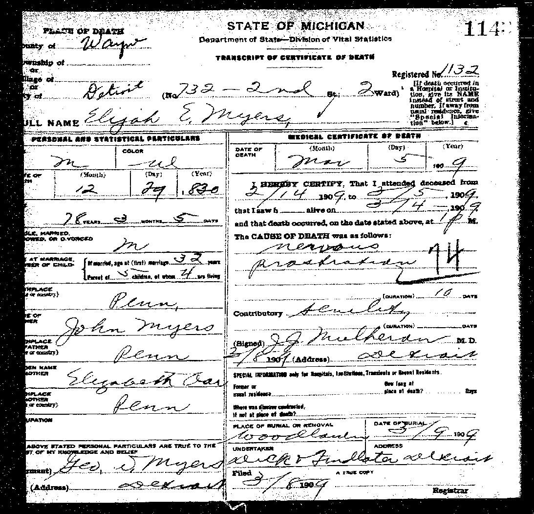 Olive tree genealogy blog michigan death certificates 1921 1952 michigan death certificates 1921 1952 online aiddatafo Image collections