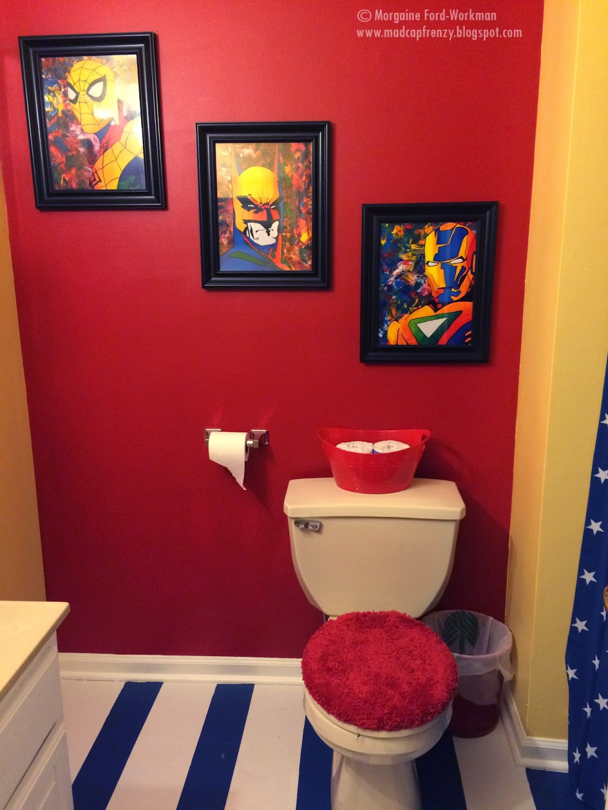 Madcap frenzy graphic design diy and everything in for Spiderman bathroom ideas