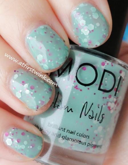 Modi Glam Nails 74 - Classy Mint