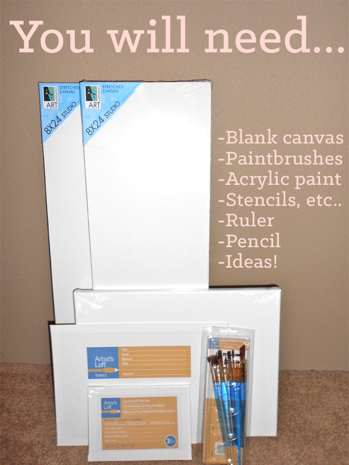 How to make handmade painted canvas art