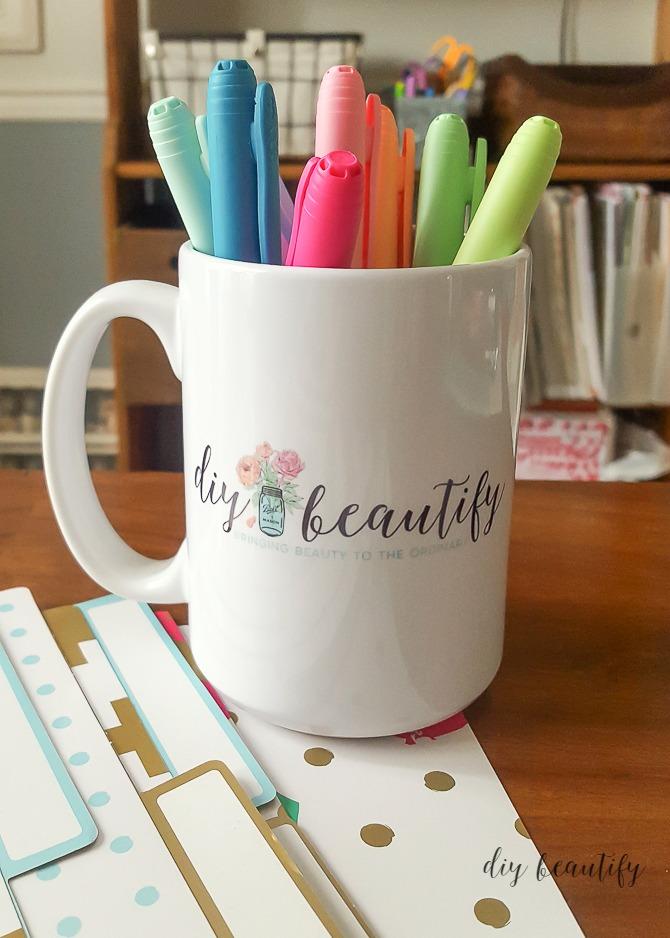 custom mug with logo
