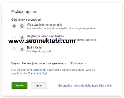 Google Drive Blogger'da JavaScript Dosyaları Yayınlama