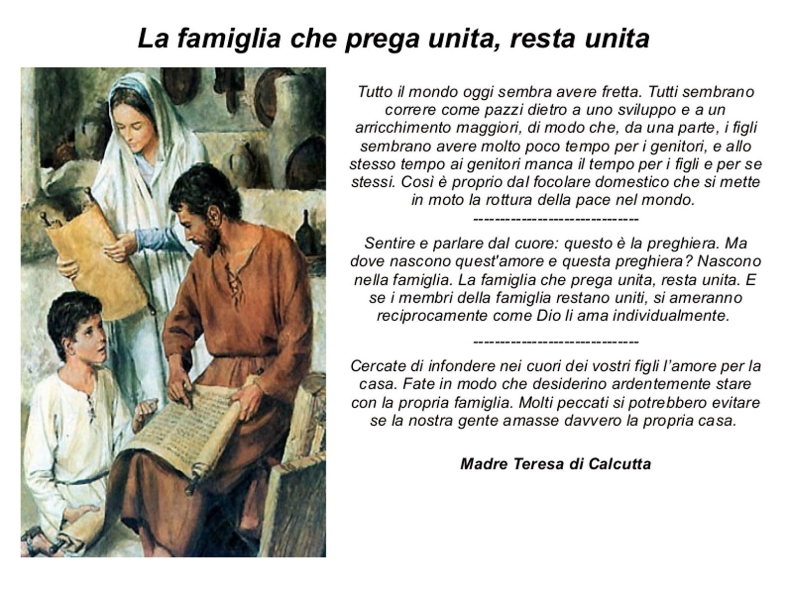 Preferenza IL MIO AMICO GESÙ: La famiglia che prega unita, resta unita. ER48