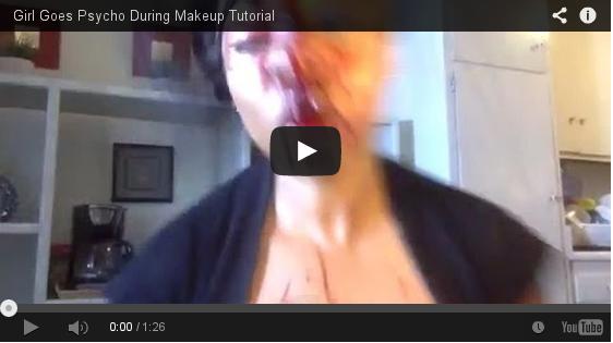 Video: mulher é possuida por demônios quando faz tutorial de maquiagem e acaba deformada