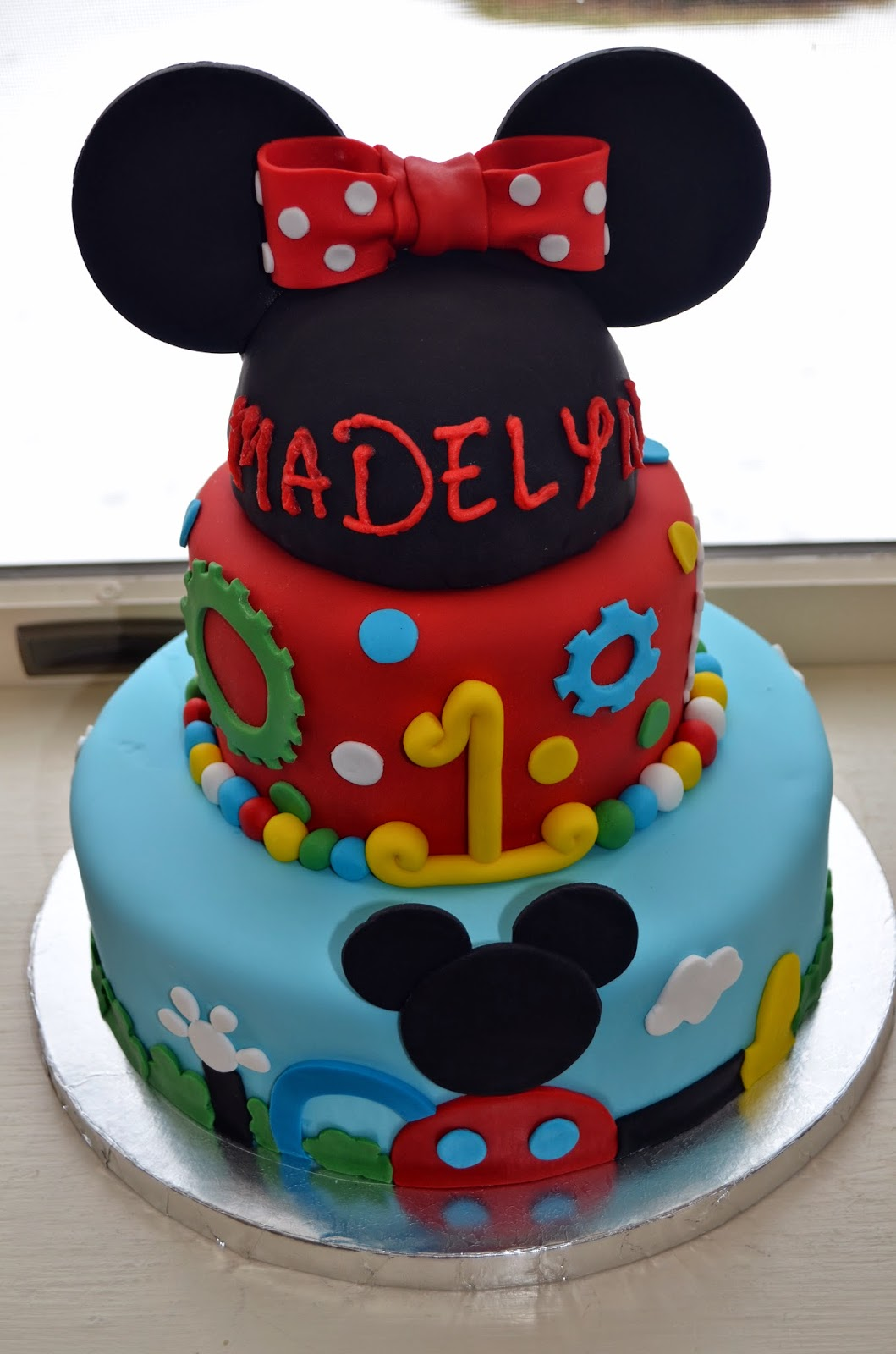 Images Of Mickey Mouse Clubhouse Birthday Cakes : Flavors by Four: Mickey Mouse Clubhouse Birthday Party Ideas