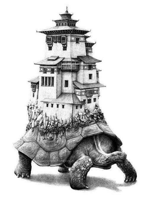 Redmer Hoekstra desenhos ilustrações surreais bizarros animais mesclados misturados criaturas