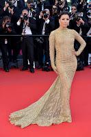 Eva Longoria gold gown