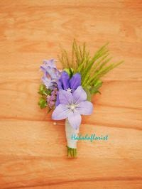 紫色的襟花