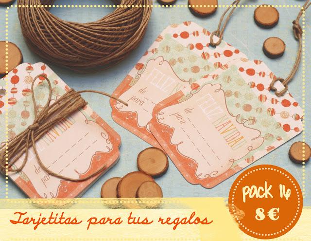 tarjetita para los regalos de Navidad by Fiesta y chocolate