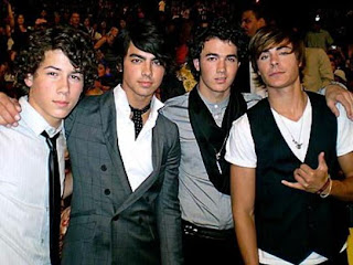 The Jonas Brothers and Zac Efron