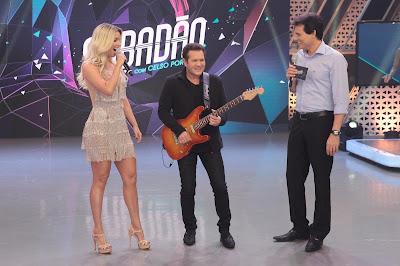 Celso recebe a nova formação da banda X Calypso - Foto Leonardo Nones
