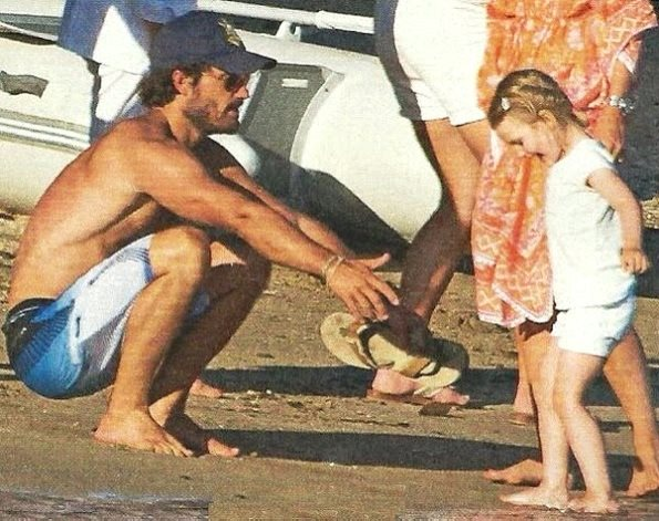 Princess Estelle With Her Godfather Prince Carl Philip
