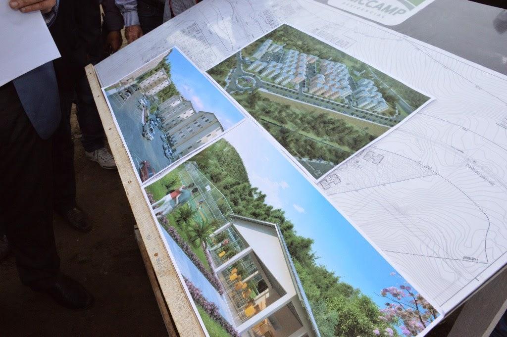 Projeto habitacional contará com área de lazer, com quadra de esportes e churrasqueira, entre outros equipamentos