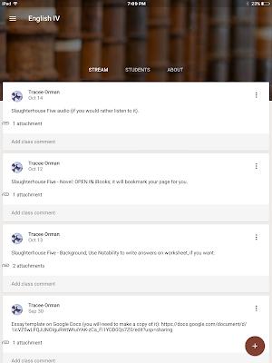 Google Classroom Teacher's Page - www.traceeorman.com