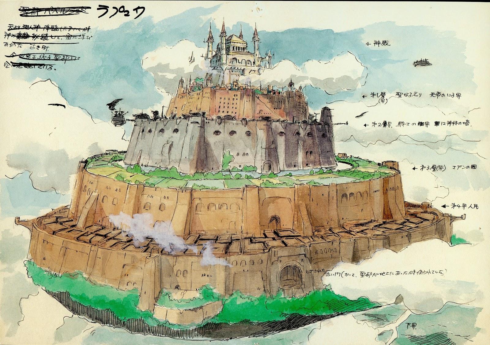 Das Schloss im Himmel Wallpaper im Gegensatz zu Diesem Frühen