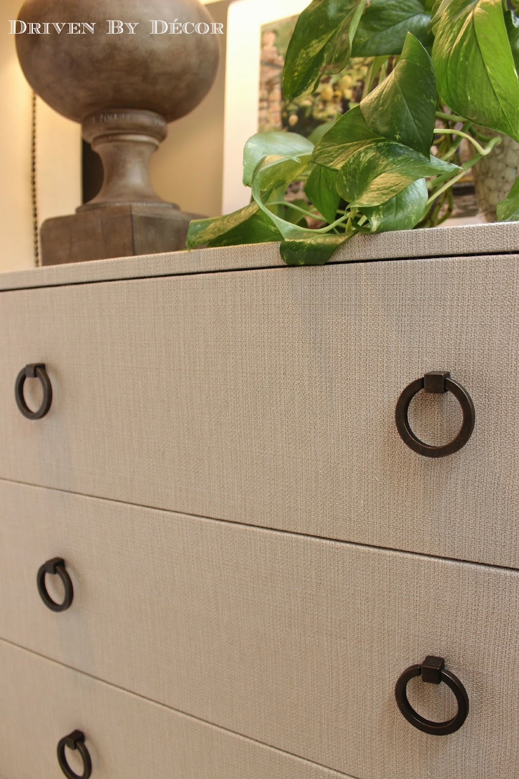 Trysil Ikea Chest Of Drawers ~ IKEA Hack Fabric Covered TRYSIL Chest  Driven by Decor