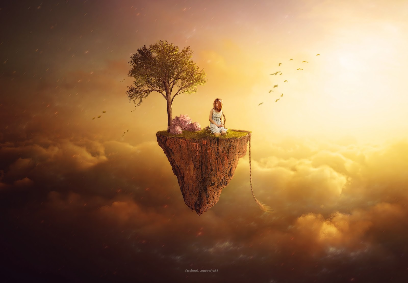 This Video Will Show You How To Make Fantasy Manipulation Floating Land Scene Effect In Photoshop CC 2015 By Compositing Some Images Adding Light And Nice