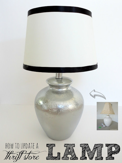 How To Update a Thrift Store Lamp. Check out how easy this is!