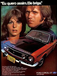 propaganda Ford Corcel GT - 1972;  1972; brazilian advertising cars in the 70s; os anos 70; história da década de 70; Brazil in the 70s; propaganda carros anos 70; Oswaldo Hernandez;