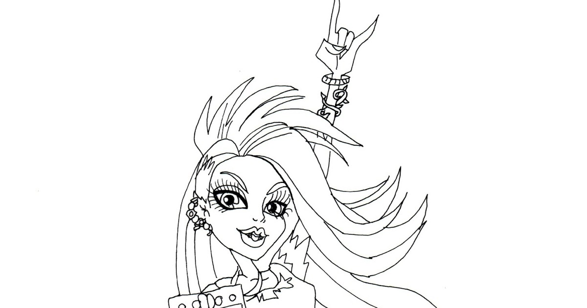 Free Printable Monster High Coloring Pages Venus Venus Mcflytrap Coloring Pages