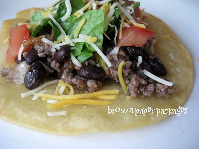 fresh salsa and black bean tacos 1 lb ground beef 1 lb fresh salsa 1 ...