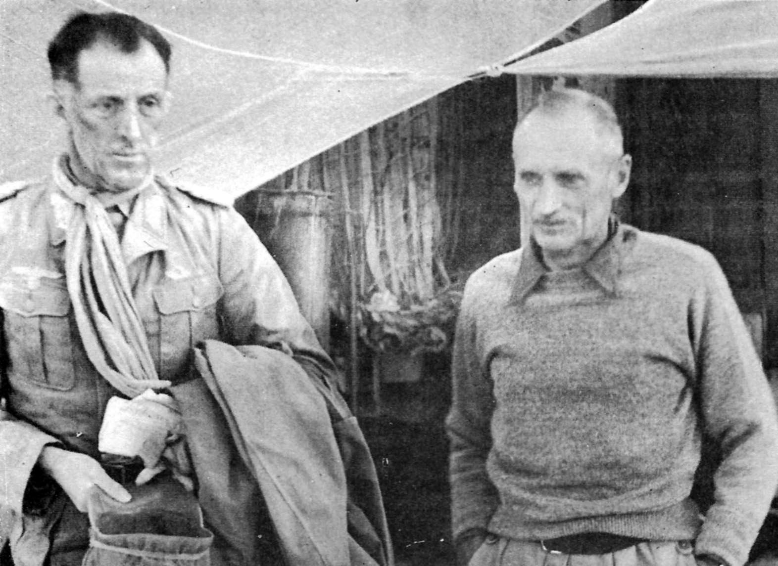 ... : General Wilhelm Ritter von Thoma Surrender to Bernard Montgomery