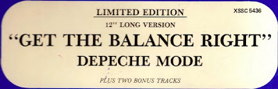 Depeche Mode \'Get The Balance Right\' (12\'\' Maxi) 1983 electro disco 80\'s [South African Edition] \