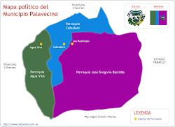 Mapa Político del Municipio Palavecino