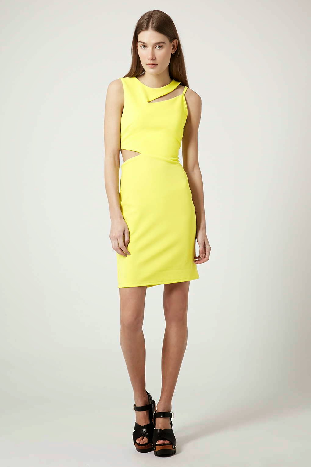 topshop yellow dress,