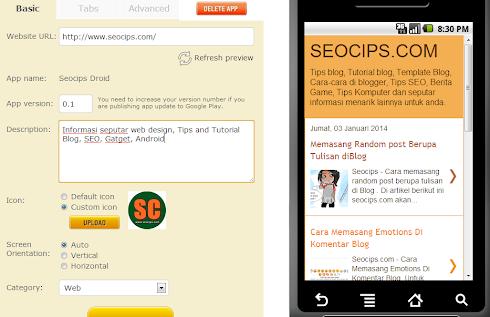 Membuat Aplikasi Web/Blog Untuk Android