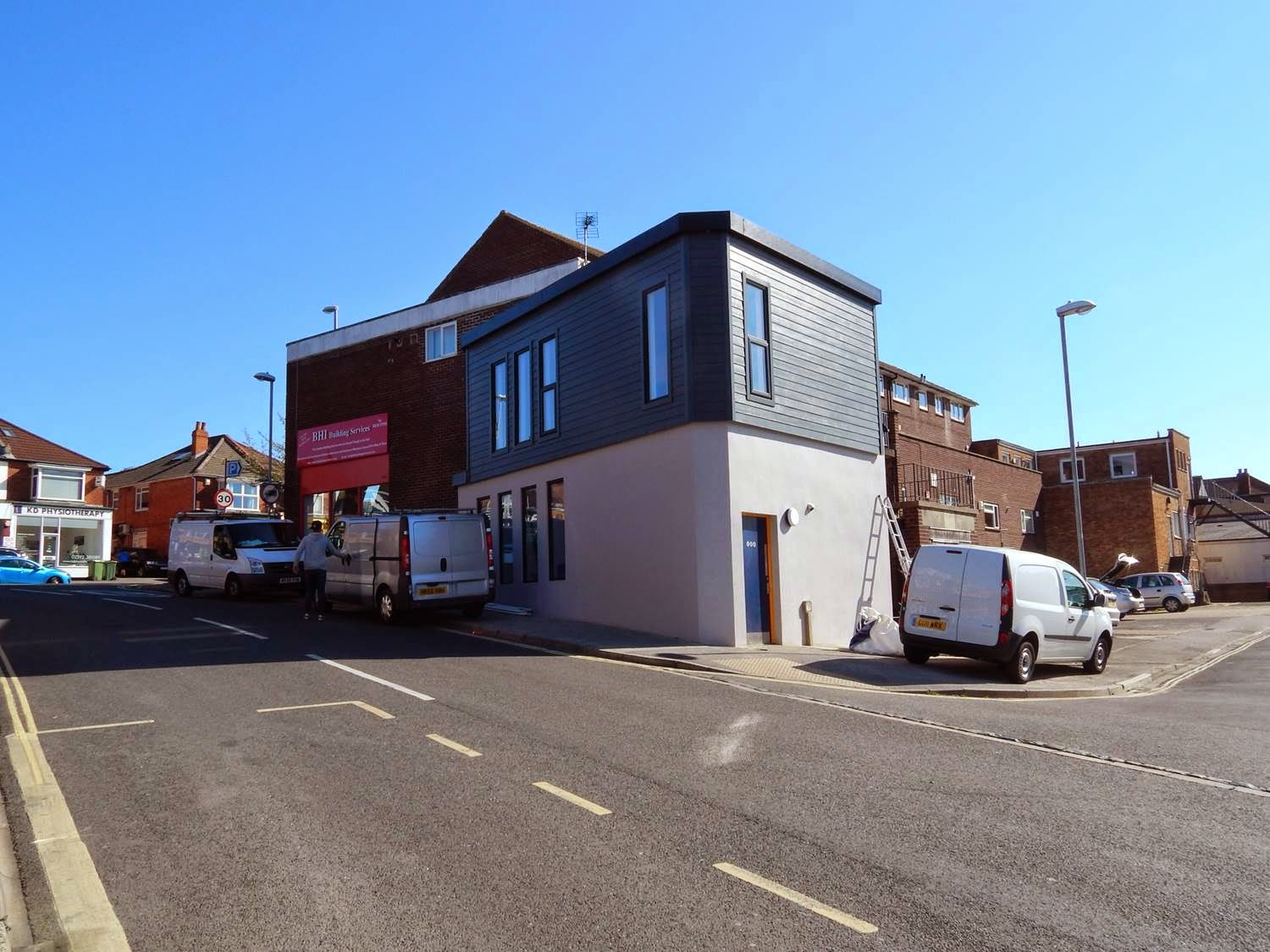 It is now a bijou officewith an added floor and spiral staircase  for a Cosham Estate Agent