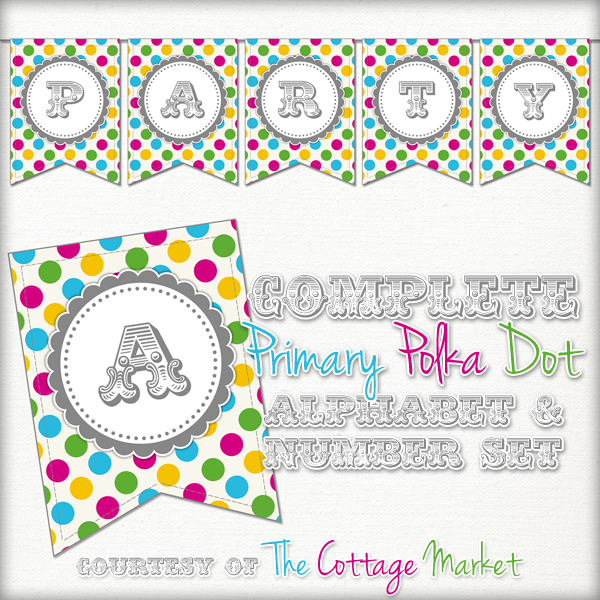 Bright Polka Dot Banner Set