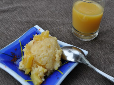 Gluten-free Vegan Pineapple Rice Pudding