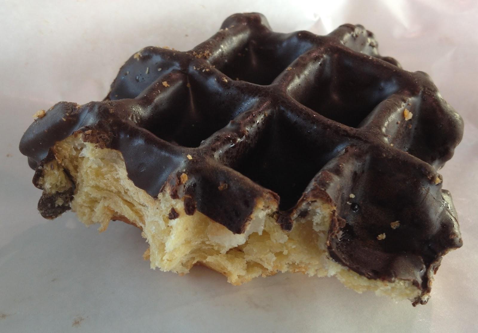 eating amp chocolate covered belgian waffle