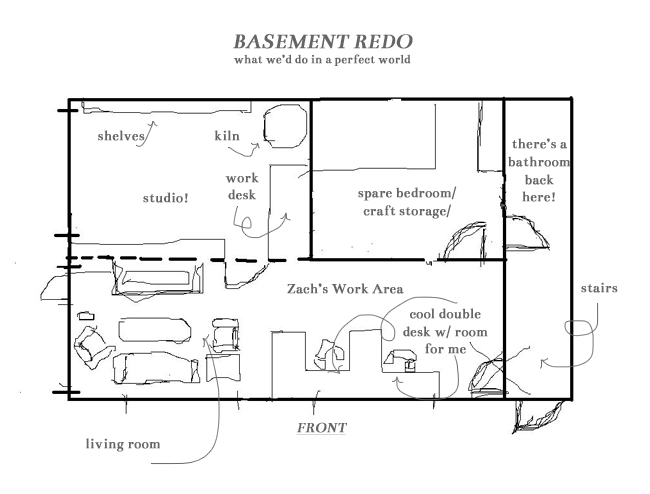 five sixteenths blog: wednesday decor // our dream basement redo