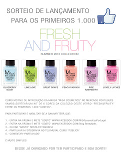 Sorteio Betty Nails e MISA Portugal