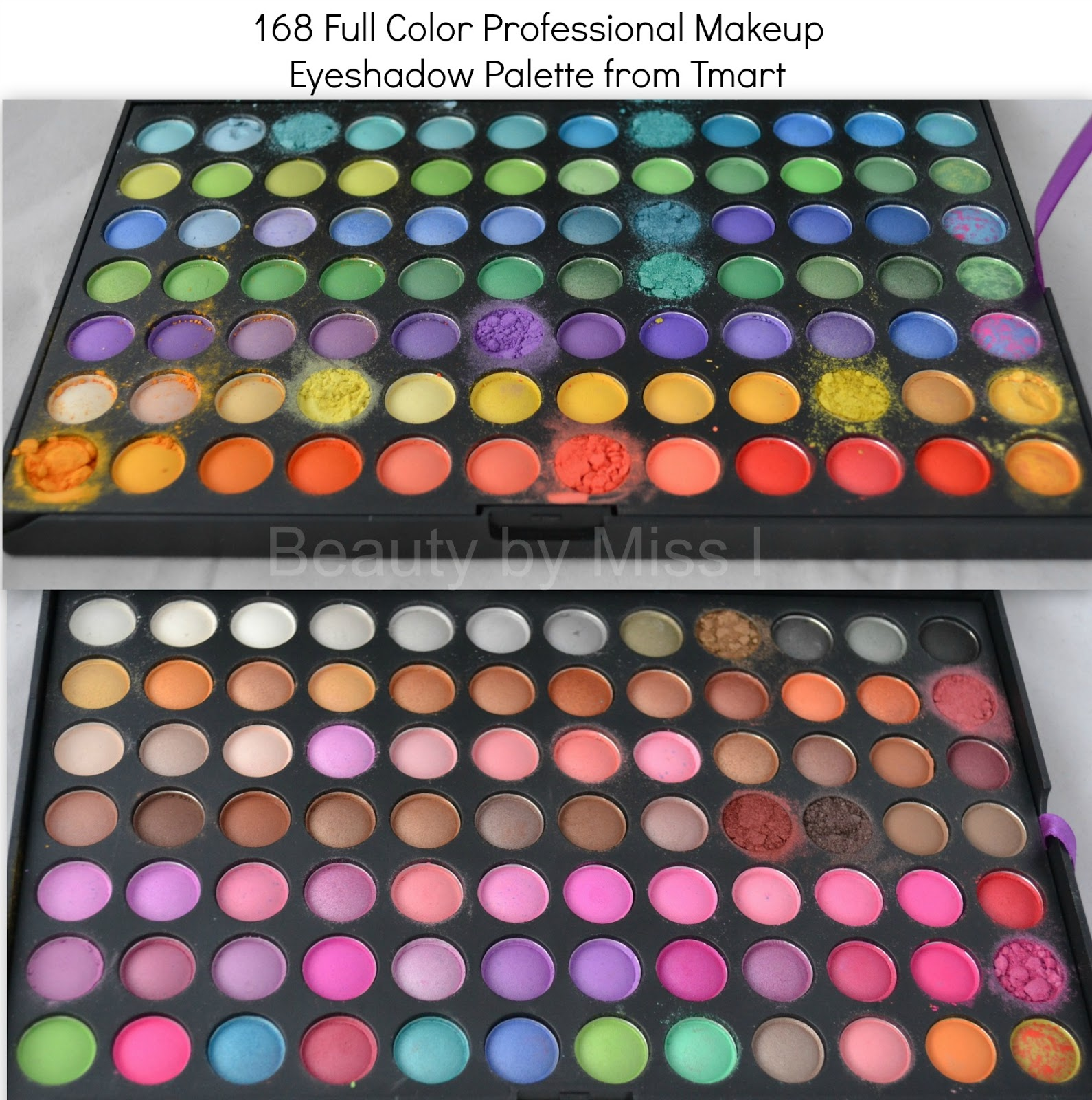168 color eye shadow palette from Tmart.