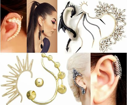 Funky Ear Tops Top Pearl Ear Cuff/stud