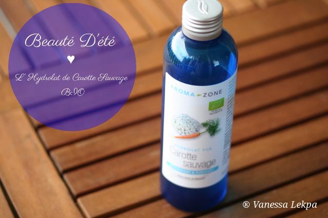 produits de beauté bio hydrolat de carotte teint bronzé