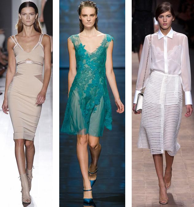 Spring 2013 Sheer Fabric Trend: Victoria Beckham// Alberta Ferretti// Valentino