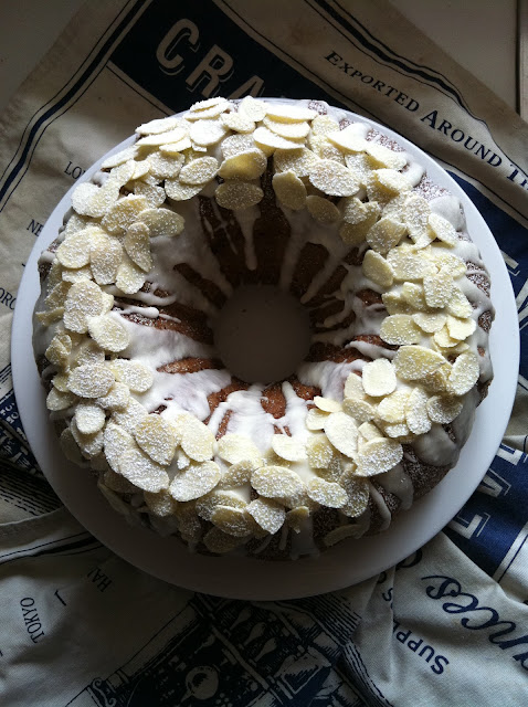 Southern Spoon Blog: Almond Bundt Cake with Brown Sugar filling