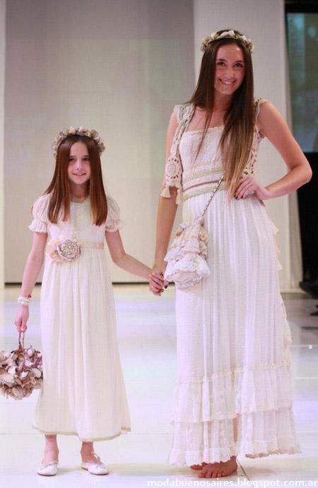 Paula y Agustina Ricci primavera verano 2013. Vestidos moda 2013.