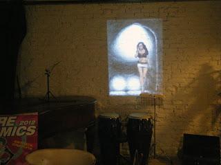 Conferenza stampa Mestre comics 2012: proiezioni su muro