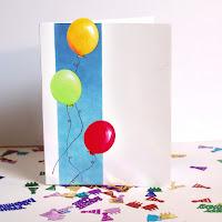 balloons birthday greeting card