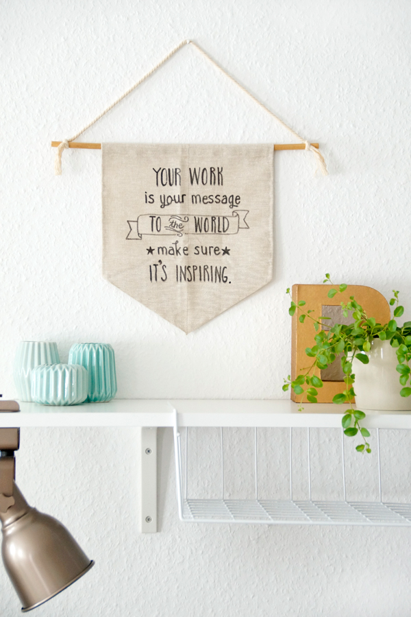 DIY Hanging Wall Banner Spoon and Key