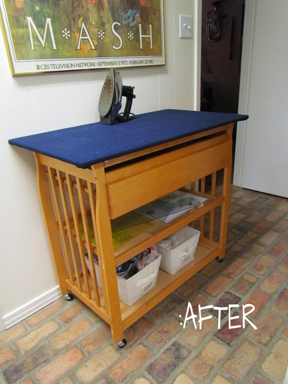 baby changing table repurposed by marty mason