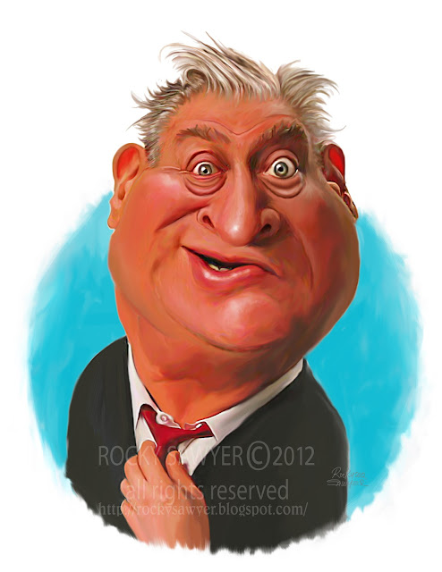 caricature of Rodney Dangerfield by Rocky Sawyer
