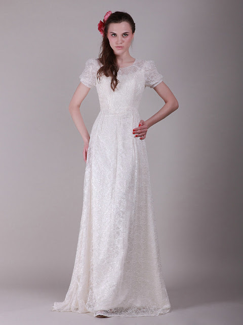 Meryem uzerli stylish wedding dress for Puff sleeve wedding dress