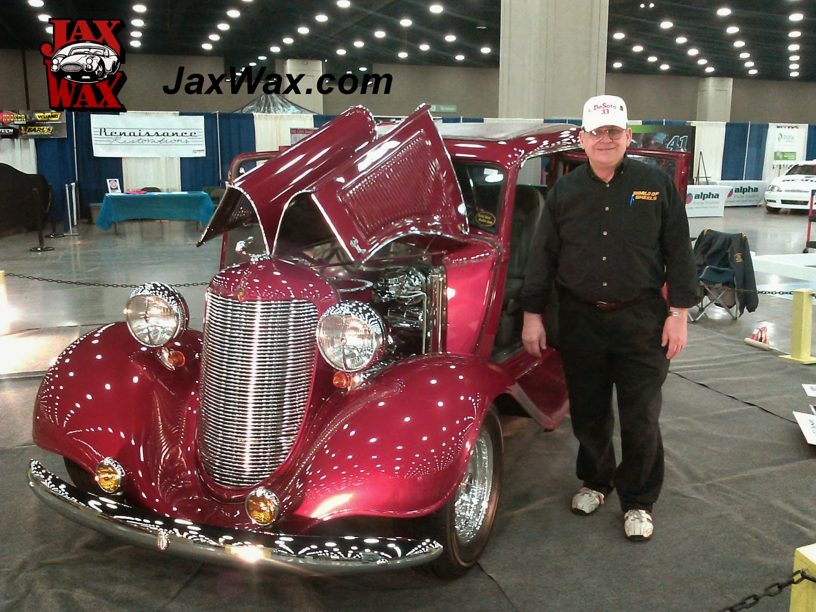 1933 Desoto Carl Casper Auto Show Jax Wax Customer