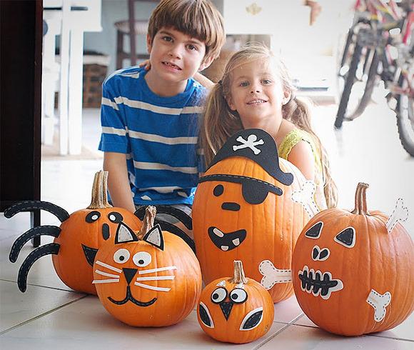 Soy au pair octubre 2012 - Decorar calabaza halloween ninos ...